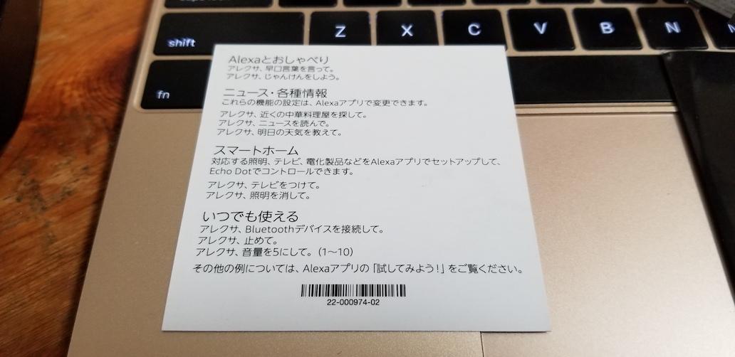 AmazonEchoDot Alexa アレクサ レビュー 大町俊輔