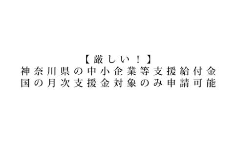 神奈川県中小企業等支援給付金,個人事業主,大町俊輔